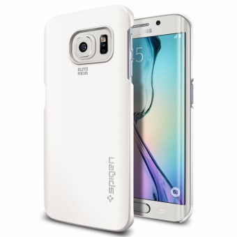 Galaxy S6 Edge Case Thin Fit Shimmery White (PET)