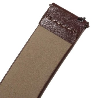 Genuine Leather Watchband for Samsung Gear S2 Classic R732 - Brown/ 20mm - intl - 4