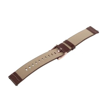 Genuine Leather Watchband for Samsung Gear S2 Classic R732 - Brown/ 20mm - intl - 5