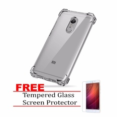 German Import Shockproof Silicone Clear Case For Xiaomi Redmi Note 4X with FREE