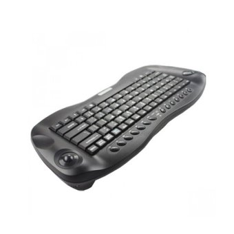 Geyes Wireless Keyboard With Trackball (Black) - picture 2