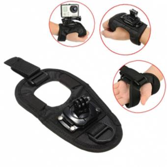 Gloves Hand Strap mount rotating 360 degee for gopro sjcam and yi camera