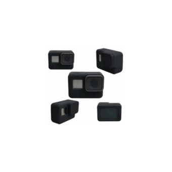 Gopro Hero 5 Silicon Case with Lens Cover (Black)