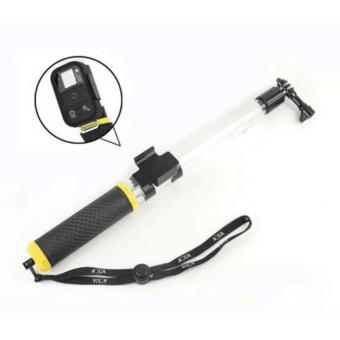 GoPro Transparent Extension Aquapod Gopro Floating Pole Stick Monopod Hand Grip Standard Thread Hole for GoPro Hero 4/3/3+/2/1 SJCAM Sj4000 wifi SJ5000 M10 M20 Sport Camera