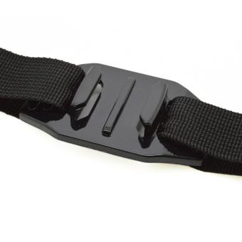Gopro Ventilated Adjustable Helmet Belt Headband Go Pro MountAdapter for Gopro Hero 4/3 + / 3/2/1 Sport Action Camera - Black -intl - 3