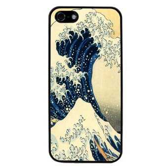 Great Wave Of Kanagawa Pattern Phone Case for iPhone 5C (Black)