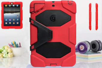 Griffin Survivor Military Hard Case for iPad Air 2 (Red) - 2
