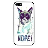 Grumpy Cat Pattern Phone Case for iPhone 4/4S (Black) - thumbnail 1