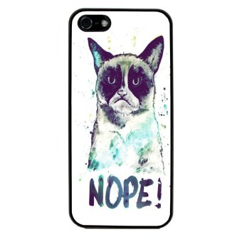 Grumpy Cat Pattern Phone Case for iPhone 4/4S (Black) product preview, discount at cheapest price