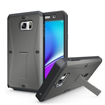 GuluGuru for Samsung Galaxy Note 5 Case [All-Round] Waterproof 360Full Body Coverage Protective Armor Cell Phone Case with ScreenProtector + Kickstand Holder