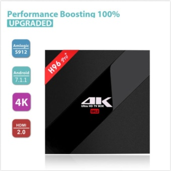 H96pro+ and I8 BACKLIT Smart Android TV Box Android 7.1 AmlogicS912 Octa Core UHD 4K 3GB / 32GB Mini PC 1000LAN 2.4G & 5.0GWiFi DLNA Miracast H.265 Media Player - intl - 4