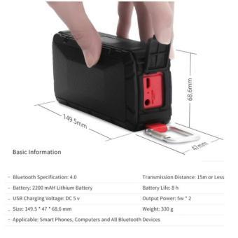Hades V3 Speaker Outdoor Shock/Impact/waterproof Bluetooth Speaker - 2