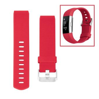 Hanlesi Band for Fitbit Charge 2, Soft TPU Adjustable ReplacementSport Strap Band for Fitbit Charge 2 Smartwatch Heart Rate FitnessWristband - intl - 3