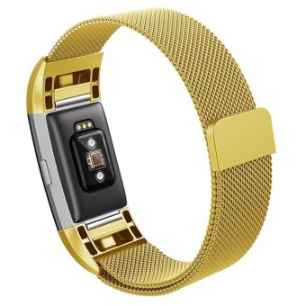 Hanlesi Band for Fitbit Charge 2 , Stainless Steel Bracelet FitnessAccessory Wristband for Fitbit Charge2 - intl
