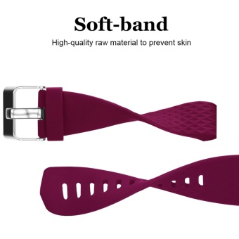 Hanlesi Fitbit Charge 2 Bands, Soft Silicone Replacement WatchbandSports Fitness Strap Band for Fitbit Charge 2 Wristband - intl - 4