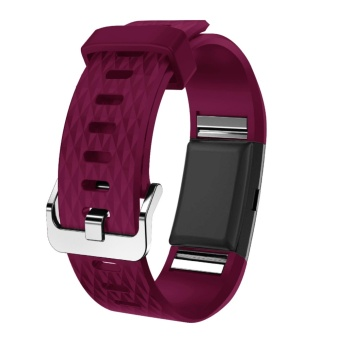 Hanlesi Fitbit Charge 2 Bands, Soft Silicone Replacement WatchbandSports Fitness Strap Band for Fitbit Charge 2 Wristband - intl - 2