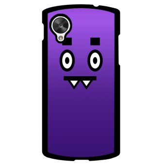Happy Funny Expression Pattern Phone Case for LG Nexus 5 (Violet) - picture 2