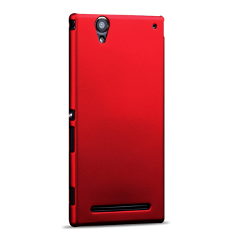 Hard Ultra Thin PC Snap-on Back Case Cover for Sony Xperia T2 Ultra - Red