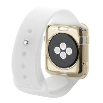 HAWEEL Slim Transparent Soft TPU Protective Case for Apple Watch38mm(Gold) - 3