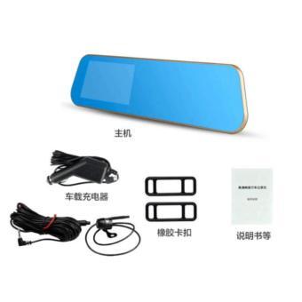 HD 1080p Monitor Dual Len In-Car Reversing Camera Cam DVR Rear View Mirror - 4