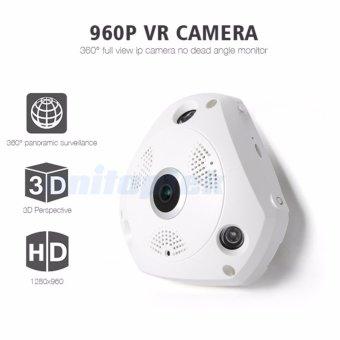 HD 960P 3D VR CCTV IP Camera Wi-Fi Fisheye Lens Night Vision Surveillance Panorama Security Wireless Camera IP 360 Degree View - intl - 3