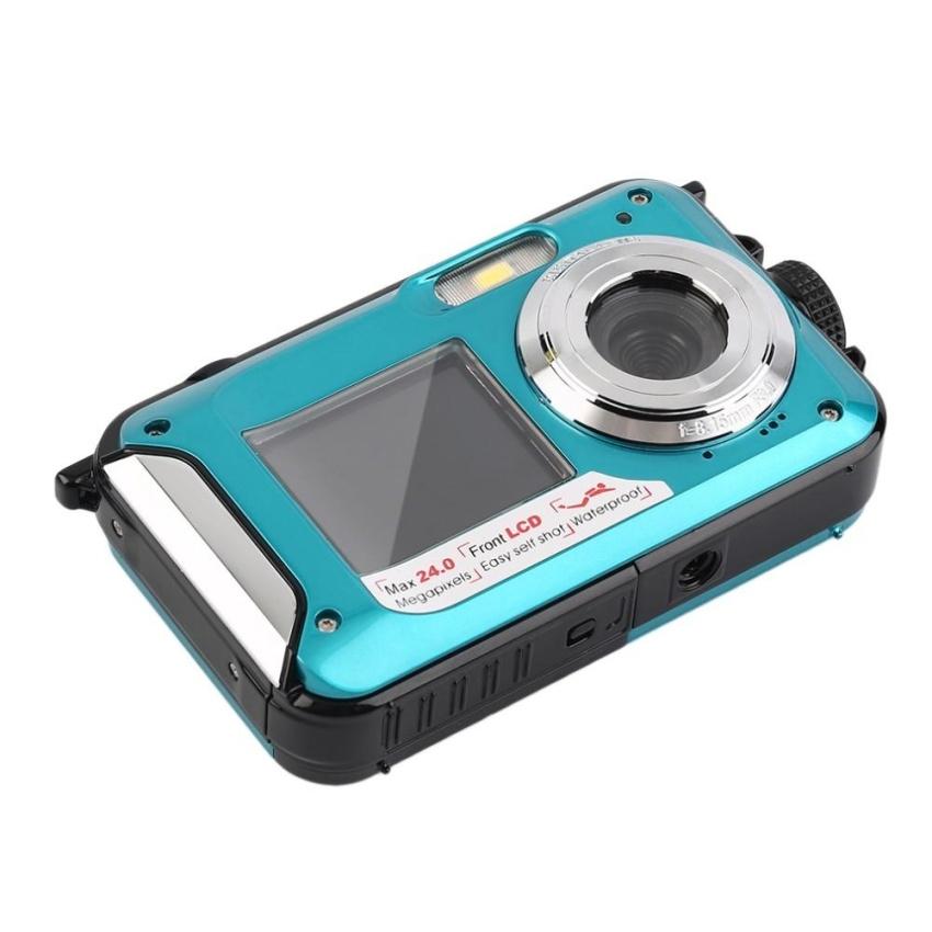 HD Digital Video Camera 24 million Pixel Digital 16X Zoom Dual LCDScreen Anti-shake Mini Camcorder 32GB TF card Storage - intl - 4