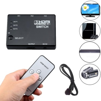 HDMI 3 Input 1 Output Hub Switcher Splitter Box Port for HDTV 1080p- intl