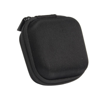 Headphone Earbud Carrying Storage Bag Pouch Hard Case for Earphone (Black)