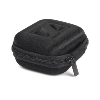 Headphone Earbud Carrying Storage Bag Pouch Hard Case for Earphone (Black) - picture 2