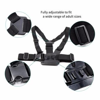 HeadStrap ChestStrap Lens Cover Monopod for Go pro 5 4 3 SJCAMSJ4000 Xiaoyi Action Sport Camera Accessories Kit - 3
