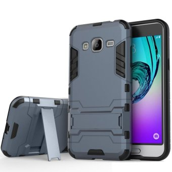 Heavy Duty Dual Layer Drop Protection Shockproof Armor Hybrid Steel Style Protective Cover Case with Self Stand for Samsung Galaxy J2 Prime - intl Price Philippines