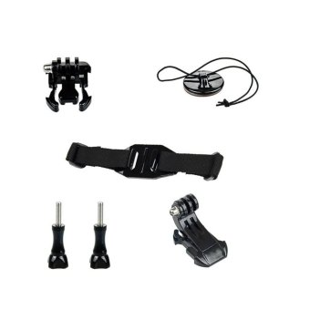 Helmet Strap Mount Quick J-hook Buckle Safety Tether Kit Set For GoPro 5S/5/4S/4/3+/3 XiaoMi Yi SJCAM Sport Action Camera Accessories - intl