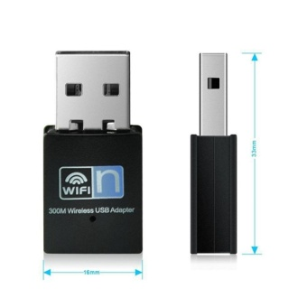 High Speed 300Mbps Mini USB Wifi Wireless Adapter 802.11 B/G/N Network Card LAN Dongle WiFi Adapter - intl - 2