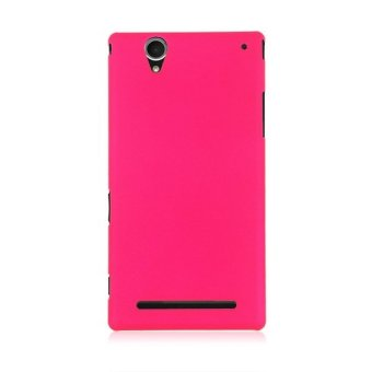 HKS Hard Plastic Back Case Cover for Sony Xperia T2 Ultra 10 ColorsTo Choice Rose Red