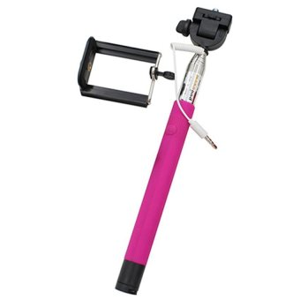 HKS Monopod for outerdoor with Wired Shutter Button (Pink) (Intl)