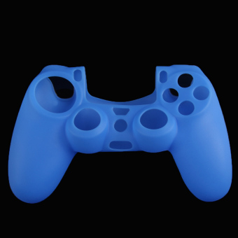 HKS Silicone Rubber Soft Case Skin Cover for PS4 Controller Grip Handle Blue (Intl) - picture 2