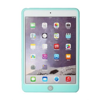 Home Button Protection Silicone Gel Case for iPad Mini 1 2 3 (Green) - 2