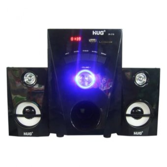 HUG H28-216 Subwoofer Speaker with USB Slot and Built-in FM Radio for TV And Laptop (Black)