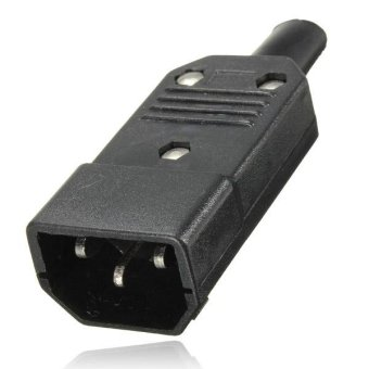 IEC 320 C14 Rewirable Cable Connector C14 Male Plug 3 Pin Power Adapter 10A 250V - intl - 2