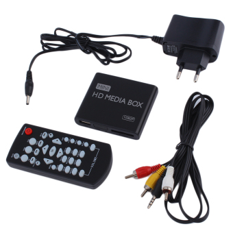 Mini Full 1080p HD Media Player Box MPEG/MKV/H.264 HDMI AV USB Remote Black Price Philippines
