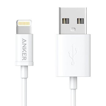 Harga Anker Apple MFi Certified Premium Lightning to USB Cable - White (3ft) - intl