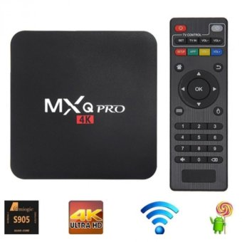 Harga MXQ Pro 4K WiFi Amlogic S902 Quad Core XBMC Cortex A9 TV Box (Black)