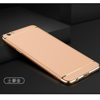 Harga 3 in 1 PC Protective Back Cover Case For OPPO F1s / OPPO A59 / OPPO A59s (Gold) - intl