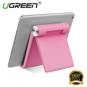 Harga UGREEN Multi-Angle Universal Mini Foldable Desk Stand Holder for All Tablets and Large Phone – Pink