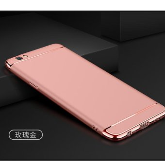 Harga 3 in 1 PC Protective Back Cover Case For OPPO F1s / OPPO A59 / OPPO A59s (Rose Gold) - intl