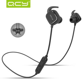 Harga QCY QY-12 Wireless Sports Bluetooth Headsets With Magnetic Switch (Black)