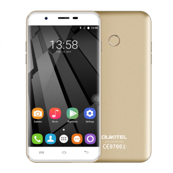 Harga Original OUKITEL U7 Plus 4G Smartphone 5.5inch 2GB + 16GB Android 6.0 OS 13.0MP Camera Fingerprint (Gold) - intl
