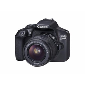 Canon EOS 1300D KIT 18.0MP DSLR Camera Black & EF-S 18-55mm IS II - intl