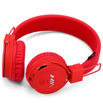 NIA X2 Superb Sound Collapsible 108dB Bluetooth Headset with FM Radio and TF/AUX Slot (Red) Price Philippines