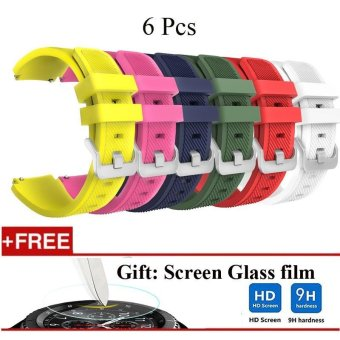 6 Pcs Sports Silicone Bracelet Strap Band For Samsung Gear S3 Classic / S3 Frontier - intl Price Philippines